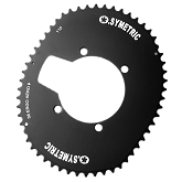 110 BCD  AEROSYMETRIC Single Outer Chainring Fits SHIMANO 6800 & 9000